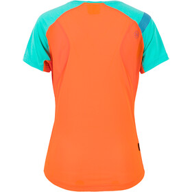 La Sportiva Catch T-Shirt Femme, lily orange/aqua
